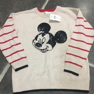 Disney Mickey Mouse Kids Sweater Sequins NWT